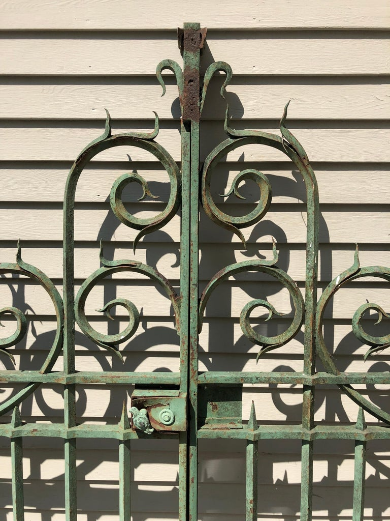 Pair of 19th Century French Wrought Iron Vineyard Entrance Gates from Bordeaux For Sale 3