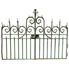 Pair of 19th Century French Wrought Iron Vineyard Entrance Gates from Bordeaux