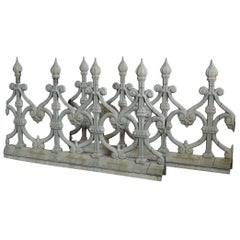Pair of 19th Century French Zinc Architectural Roof Ornaments or Finials