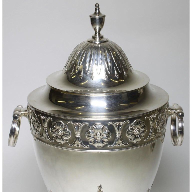 Pair of 19th Century George III Style Plated Hot Water Samovars, Elkington For Sale 6