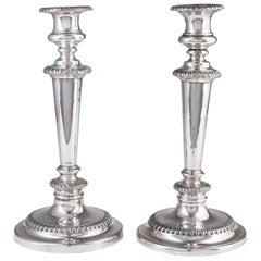 Pair of 19th Century Georgian Sheffield Plate Candlesticks