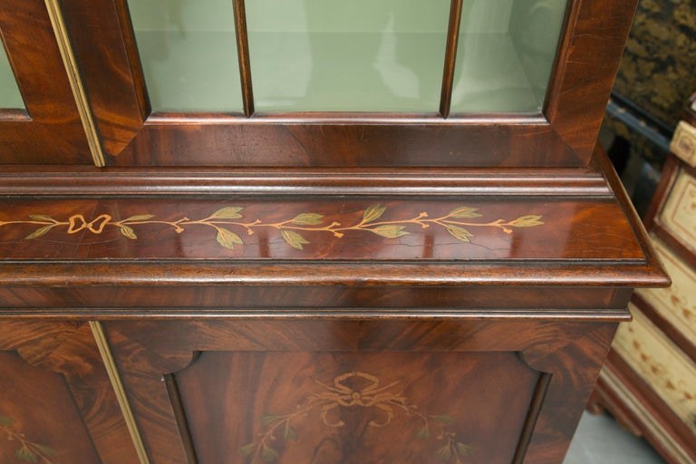 Pair of 19th Century Georgian Style Mahogany Bookcases For Sale 5