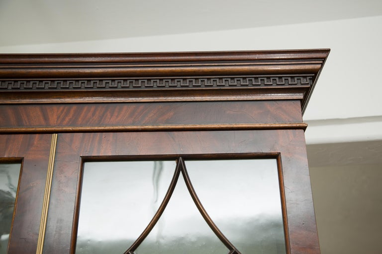 Pair of 19th Century Georgian Style Mahogany Bookcases For Sale 1