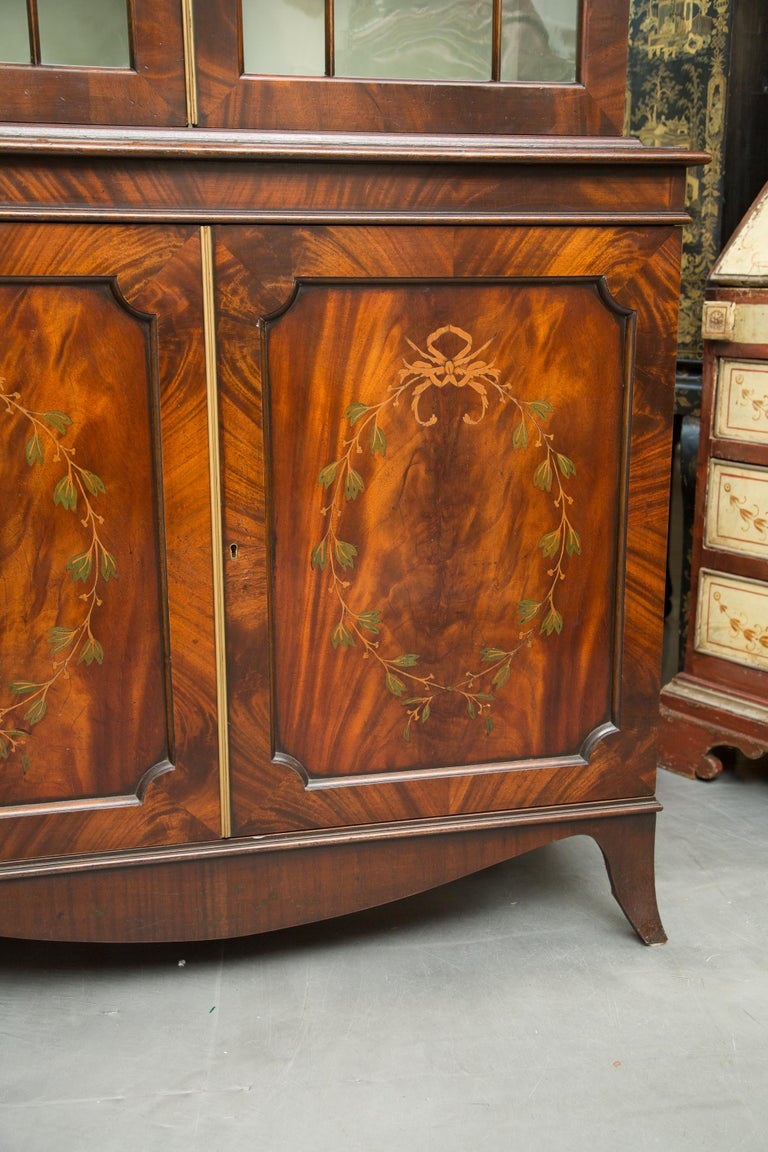 Pair of 19th Century Georgian Style Mahogany Bookcases For Sale 2