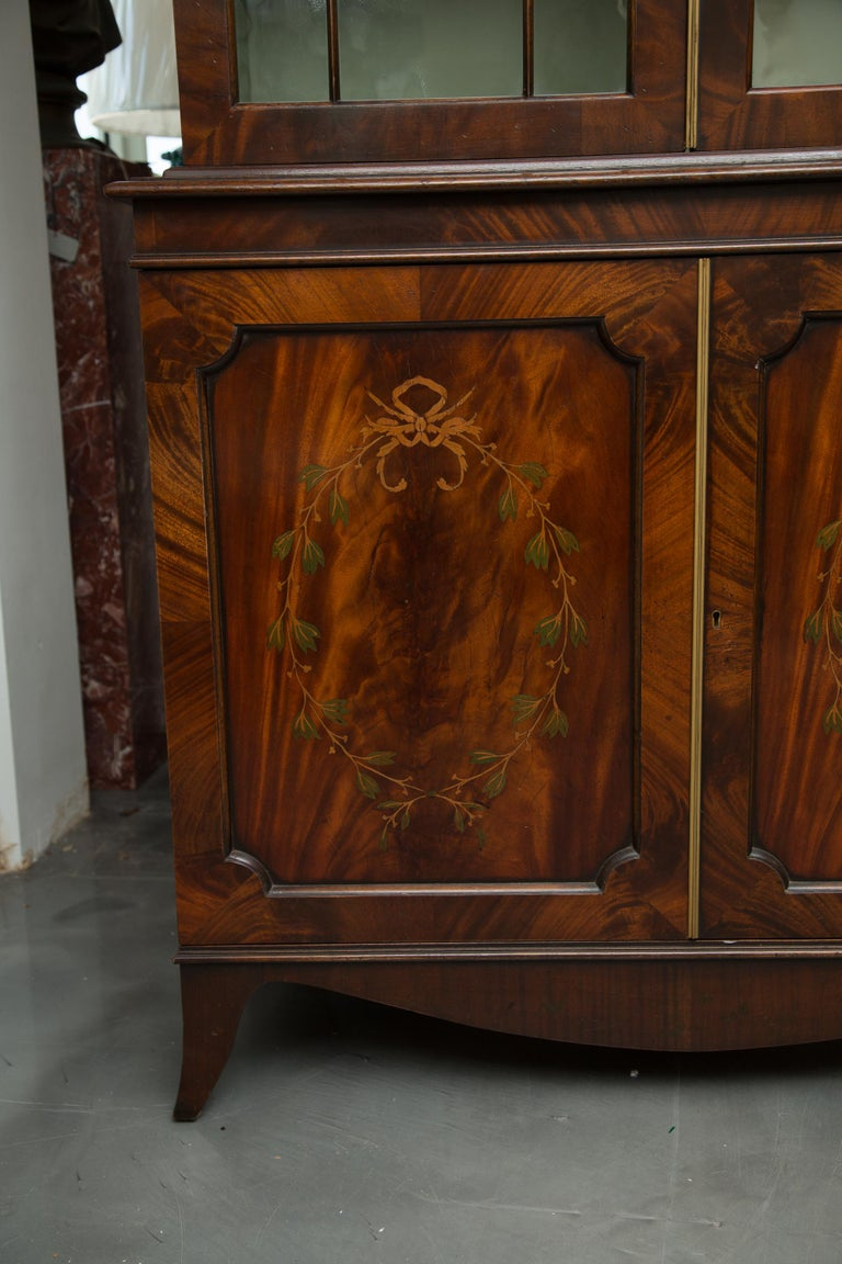 Pair of 19th Century Georgian Style Mahogany Bookcases For Sale 3