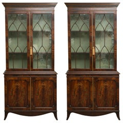 Pair of 19th Century Georgian Style Mahogany Bookcases