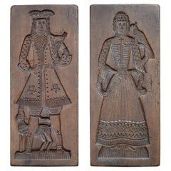 Pair of 19th Century German Gingerbread Moulds