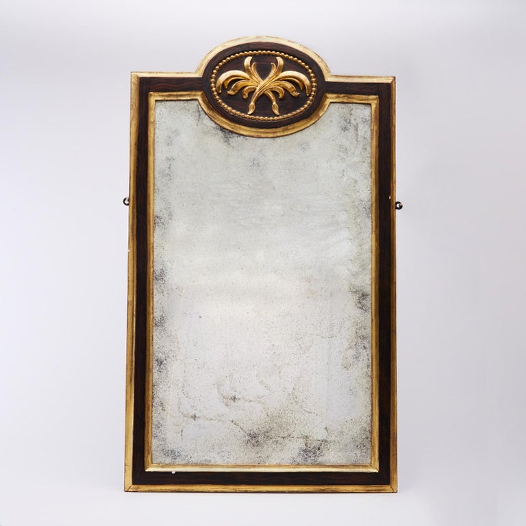 Pair of 19th Century Gilt and Ebonized Mirrors In Excellent Condition For Sale In London, GB