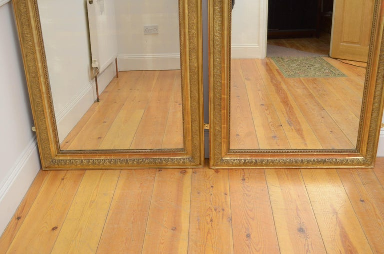 Pair of 19th Century Giltwood Mirrors 5