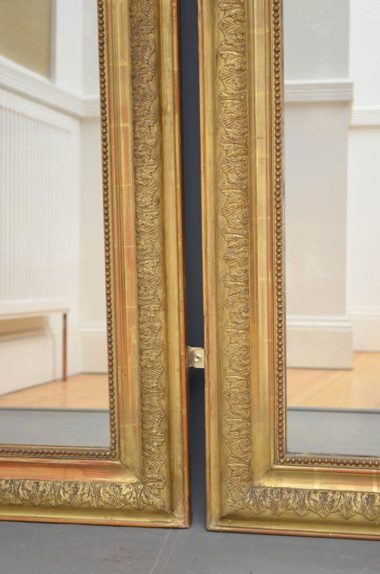 Louis Philippe Pair of 19th Century Giltwood Mirrors
