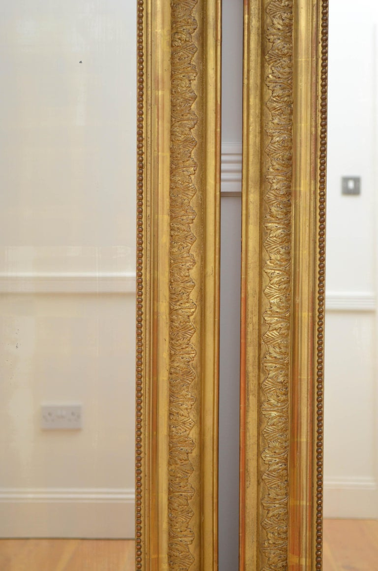 French Pair of 19th Century Giltwood Mirrors