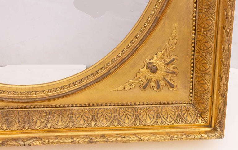 Gesso Pair of 19th Century Giltwood Mirrors