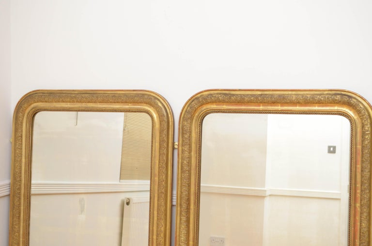 Late 19th Century Pair of 19th Century Giltwood Mirrors