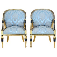 Pair of 19th Century Gothenburg Gilt Armchairs