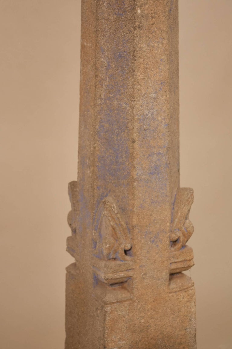 Pair of 19th Century Granite Pillars In Excellent Condition For Sale In Shelburne Falls, MA
