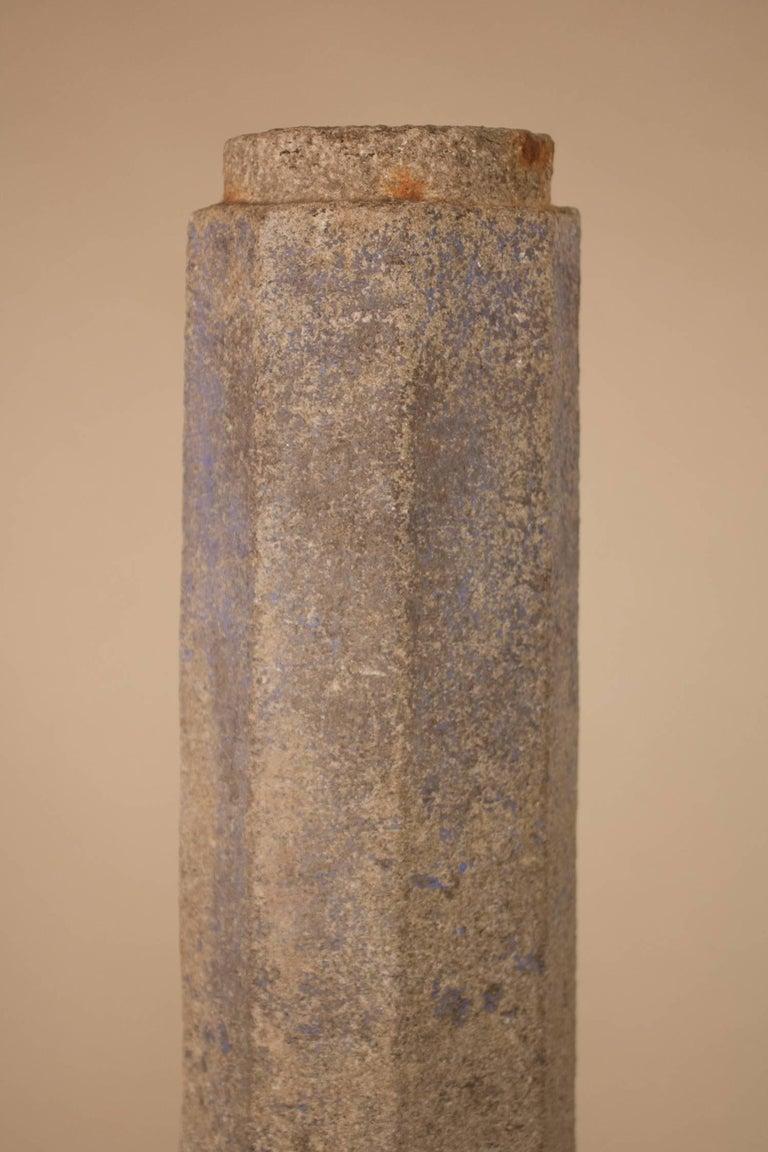 Stone Pair of 19th Century Granite Pillars For Sale