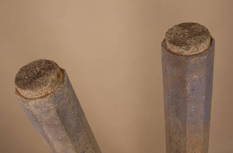 Pair of 19th Century Granite Pillars For Sale 2