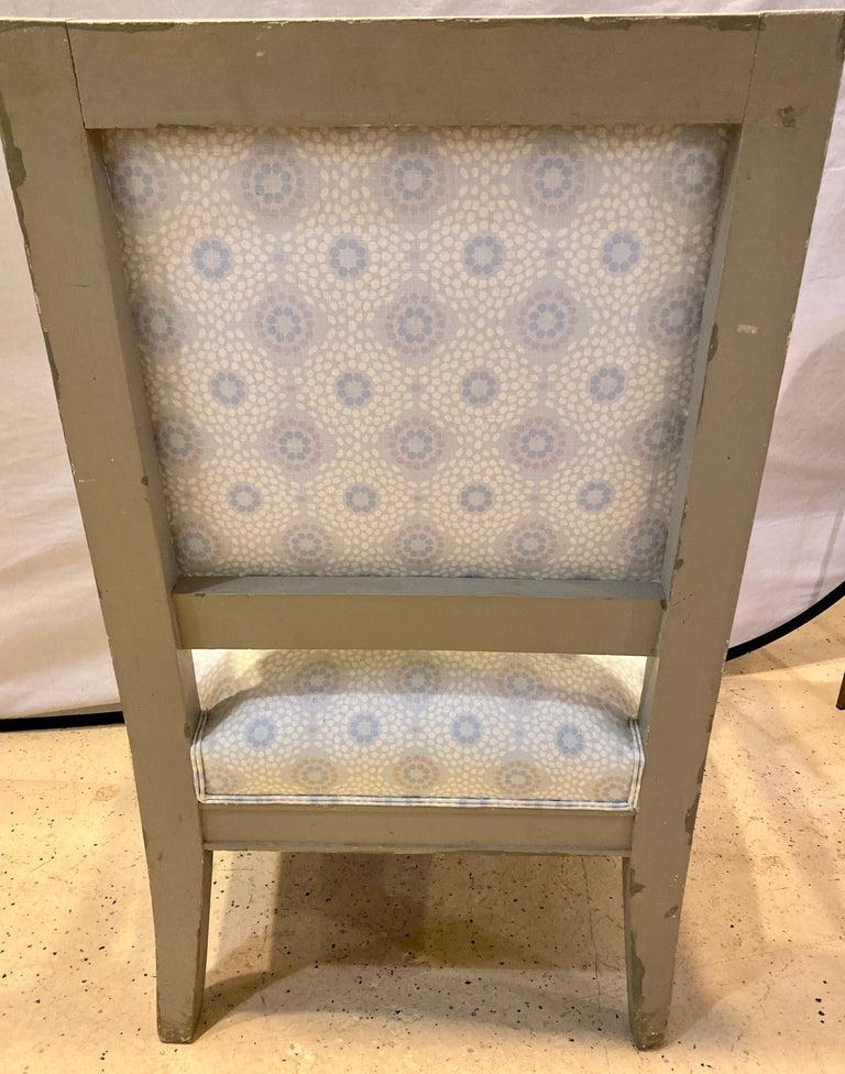 Pair of 19th Century Gustavian Swedish Finely Painted Decorated Armchairs For Sale 1