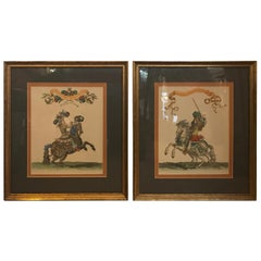 Pair of 19th Century Hand Colored Engravings