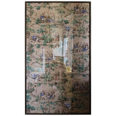 Pair of 19th Century Hemp Back Wallpapers