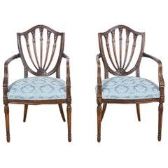 Pair of 19th Century Hepplewhite Style Armchairs