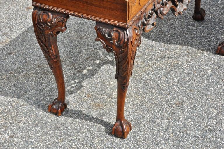 Pair of 19th Century Irish Georgian Walnut Console Tables For Sale 5