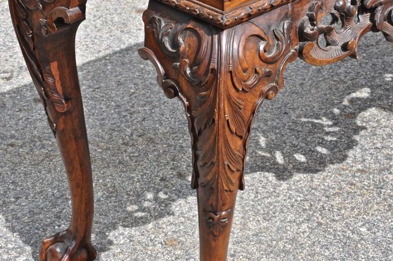 Pair of 19th Century Irish Georgian Walnut Console Tables For Sale 6