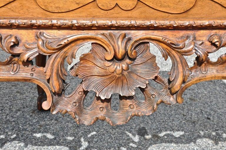 Marble Pair of 19th Century Irish Georgian Walnut Console Tables For Sale