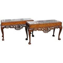 Pair of 19th Century Irish Georgian Walnut Console Tables