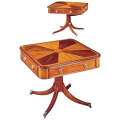 Pair of 19th Century Irish Mahogany and Satinwood Centre Tables