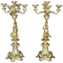Pair of 19th Century Italian Candelabras