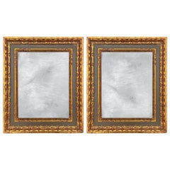 Pair of 19th Century Italian Gilt Wood Framed Mirrors