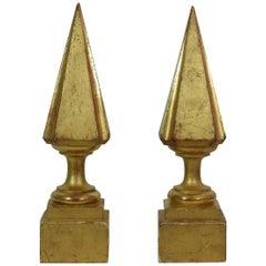Pair of 19th Century Italian Giltwood Finials