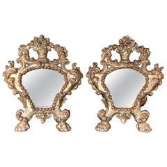 Pair of 19th Century Italian Giltwood Mirrors