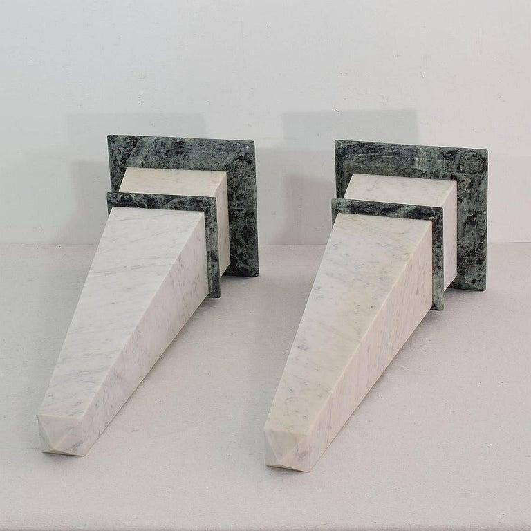 Pair of 19th Century Italian Grand Tour Marble Obelisks For Sale 7