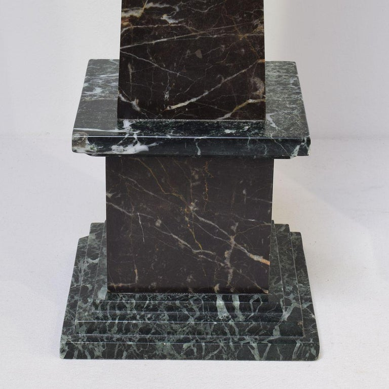 Pair of 19th Century Italian Grand Tour Marble Obelisks For Sale 9