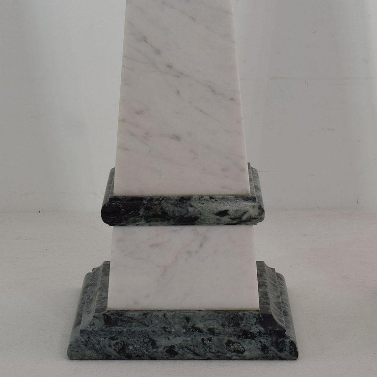 Pair of 19th Century Italian Grand Tour Marble Obelisks For Sale 3
