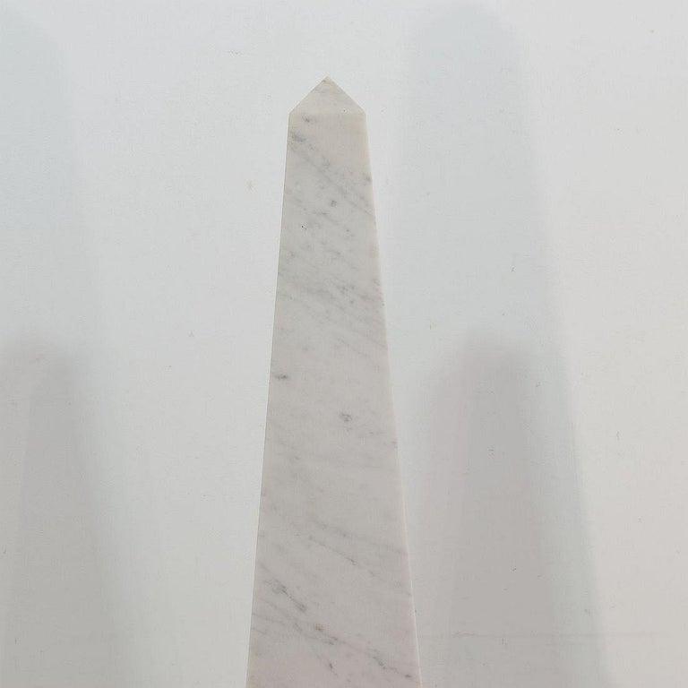 Pair of 19th Century Italian Grand Tour Marble Obelisks For Sale 4