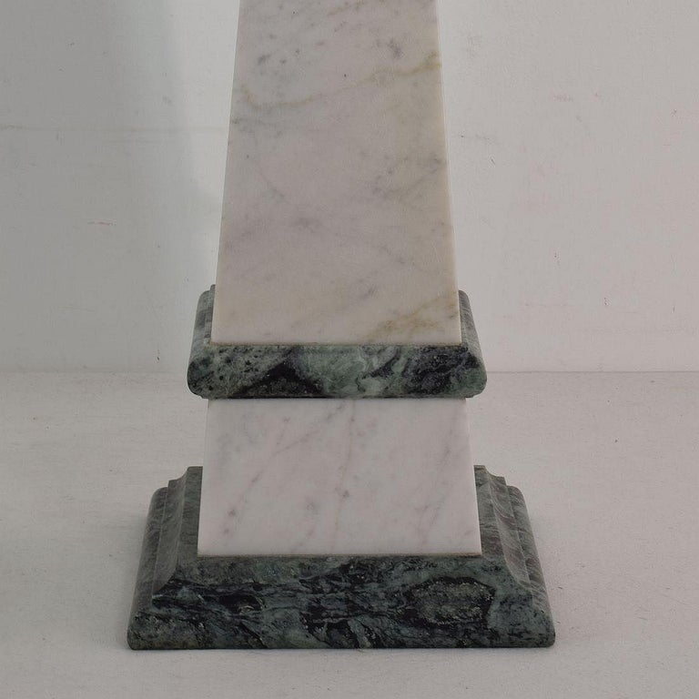 Pair of 19th Century Italian Grand Tour Marble Obelisks For Sale 5