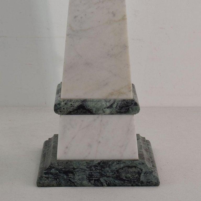 Pair of 19th Century Italian Grand Tour Marble Obelisks For Sale 5