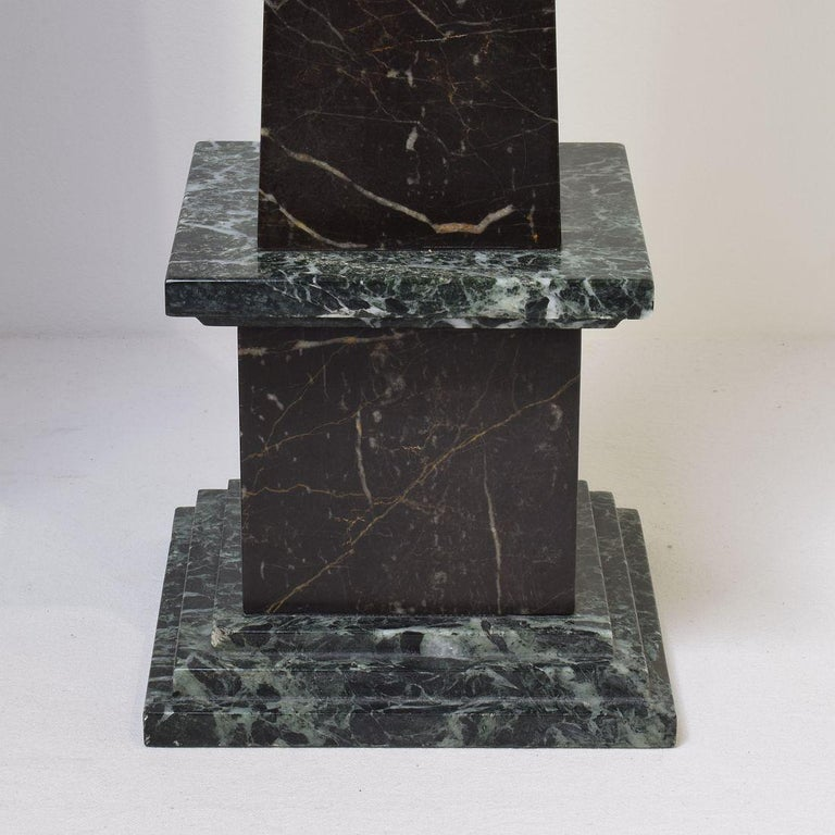 Pair of 19th Century Italian Grand Tour Marble Obelisks For Sale 6