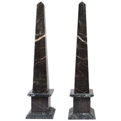 Pair of 19th Century Italian Grand Tour Marble Obelisks