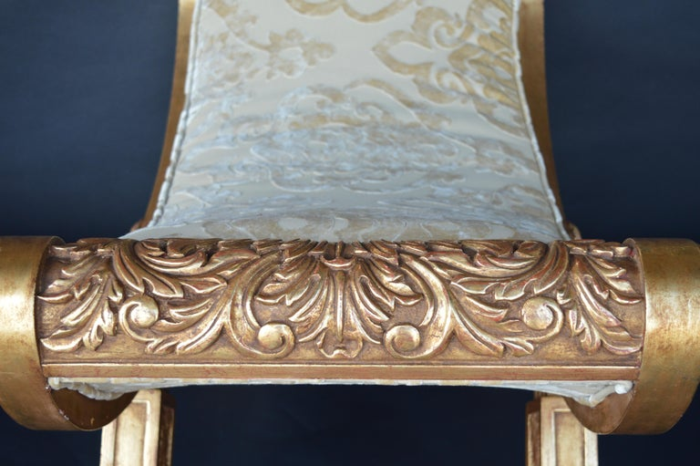 Pair of 19th Century Italian Hand Carved Benches In Good Condition For Sale In Los Angeles, CA
