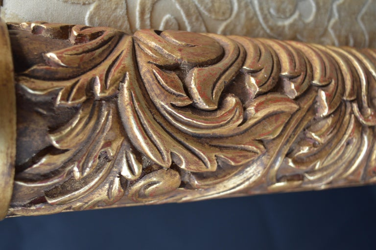 Pair of 19th Century Italian Hand Carved Benches For Sale 1