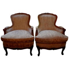 Pair of 19th Century Italian Louis XV Style Bergères