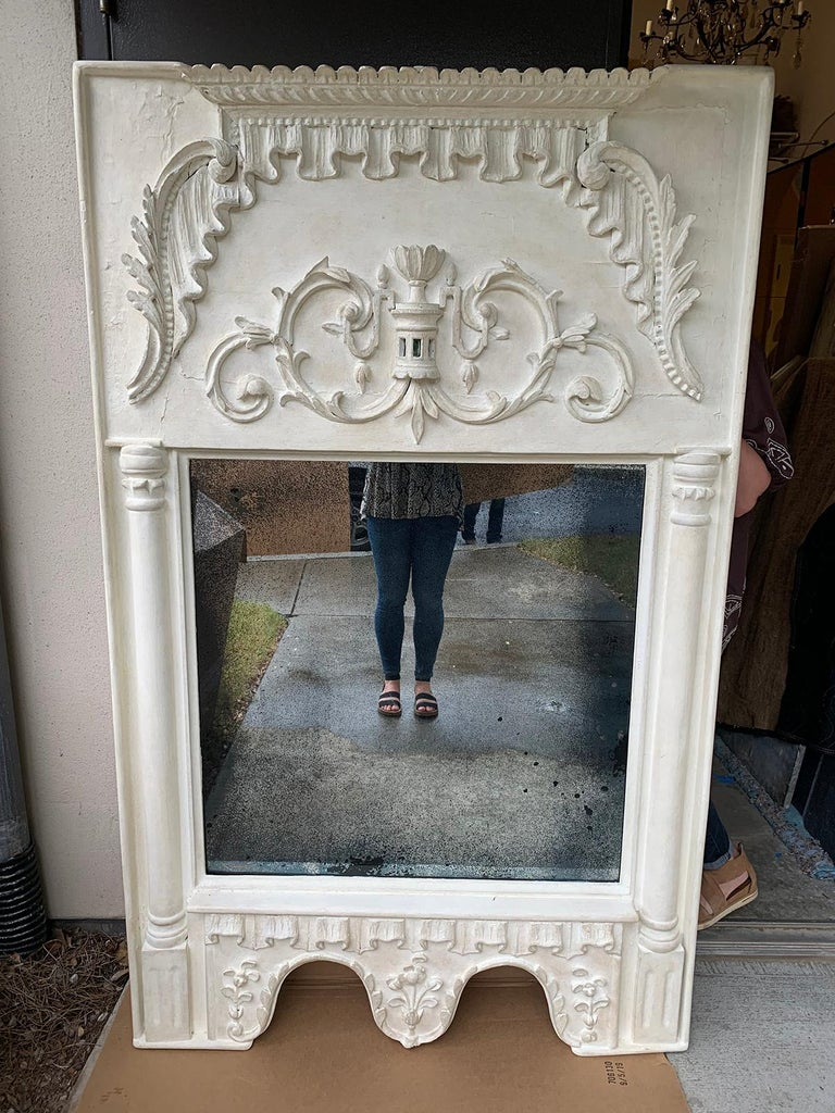 Pair of 19th Century / 20th Century Italian Hand Carved Mirrors  Custom Finish For Sale 2