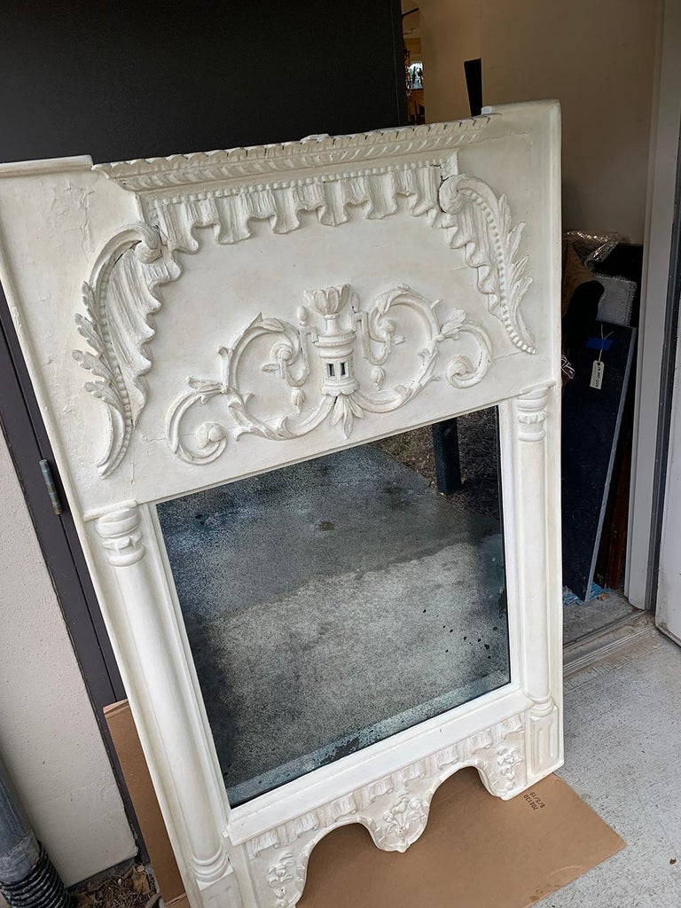 Pair of 19th Century / 20th Century Italian Hand Carved Mirrors  Custom Finish For Sale 4