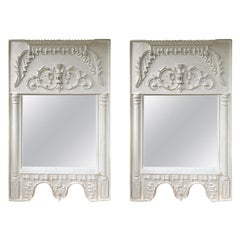 Pair of 19th Century / 20th Century Italian Hand Carved Mirrors  Custom Finish