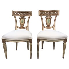 Pair of 19th Century Italian Neoclassical Side Chairs
