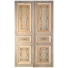 Pair of 19th Century Italian Painted Doors or Panelling